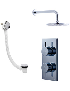 Kai-Central Digital Bath Filler Waste And Overhead Shower Pack 07