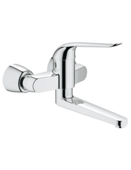 Euroeco Special Wall Mounted Chrome Basin Mixer Tap
