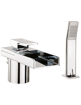 Water Square Bath Shower Mixer Tap With Lights And Kit