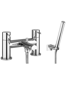 Kai Lever Deck Mounted Bath Shower Mixer Tap With Kit