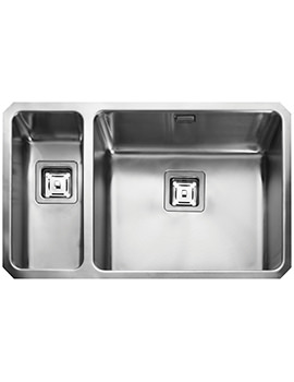Rangemaster Atlantic Quad 740 x 450mm Stainless Steel 1.5B Undermount Sink