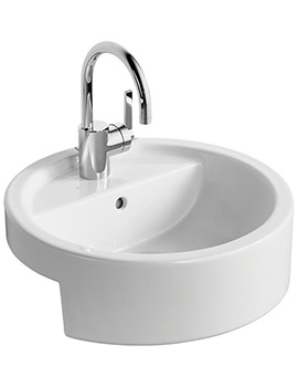 White 450mm Semi Countertop Washbasin - E001401
