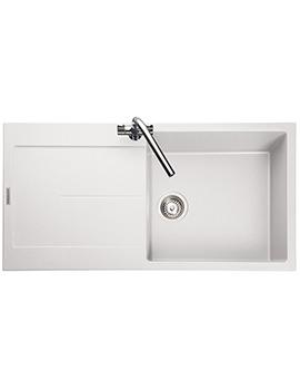 Scoria 1000 x 500mm Igneous Granite White 1.0B Inset Sink