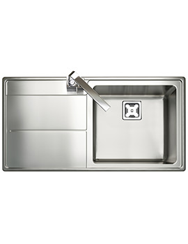 Rangemaster Arlington 985 x 508mm Stainless Steel 1.0B Inset Kitchen Sink