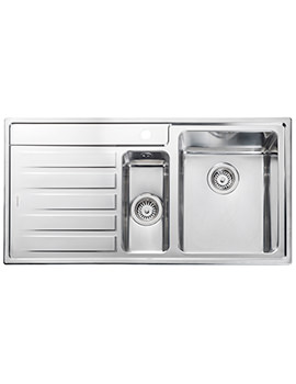 Rockford 985 x 508mm Stainless Steel 1.5B Inset Kitchen Sink