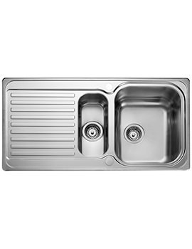 Sedona 985 x 508mm Stainless Steel 1.5B Inset Kitchen Sink