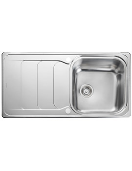Rangemaster Houston 985 x 508mm Stainless Steel 1.0B Inset Kitchen Sink - Image