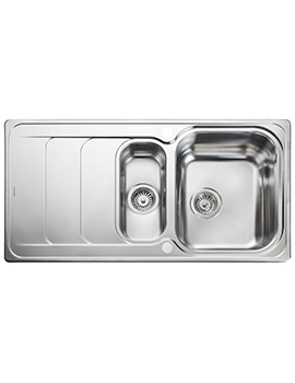 Houston 985 x 508mm Stainless Steel 1.5B Inset Kitchen Sink