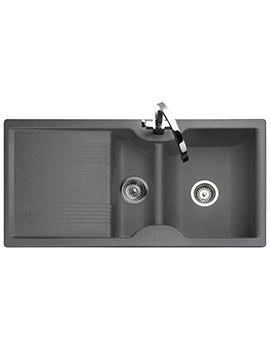 Lunar 985 x 508mm Neo-Rock Granite Grey 1.5B Inset Sink