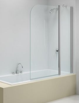 Ionic 900 x 1500mm Two Panel Folding Curved Bath Screen