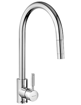 Rangemaster Aquatrend Single Lever Pull Out Kitchen Sink Mixer Tap