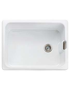 Rangemaster Farmhouse Belfast 595 x 455mm Fire-Clay Ceramic 1.0B Sink