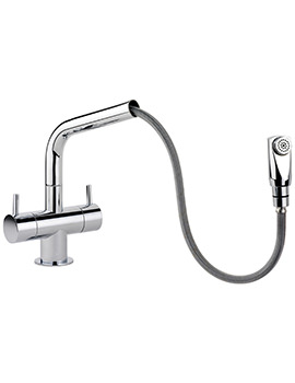 Aquapro Dual Lever Pull Out Kitchen Sink Mixer Tap
