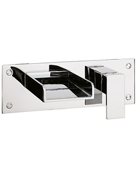 Water Square 2 Hole Wall Mounted Bath Filler Tap