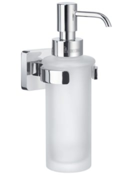 Smedbo Ice Polished Chrome Holder With Frosted Glass Soap Dispenser