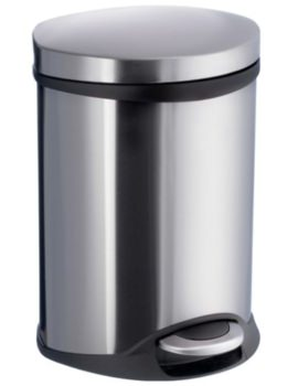 Outline Pedal Bin Brushed Stainless Steel