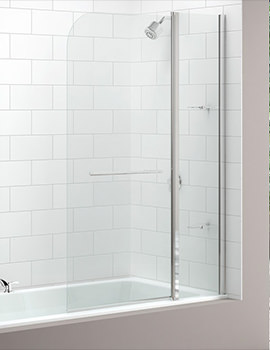 Two Panel Curved Bath Screen 1150 x 1500mm - MB3