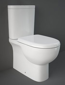 RAK Tonique Fully BTW Close Coupled WC With Soft Close Toilet Seat