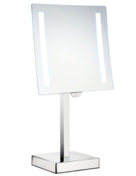 Outline Free Standing Shaving And MakeUp Mirror With Light