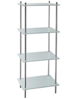 Smedbo Outline Polished Chrome Free Standing Shelf With 4 Shelves