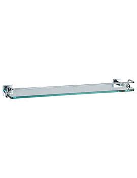 Zeya 500mm Glass Shelf With Towel Rail - ZE030C