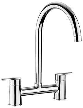 Belfast Modern Bridge Kitchen Sink Mixer Tap