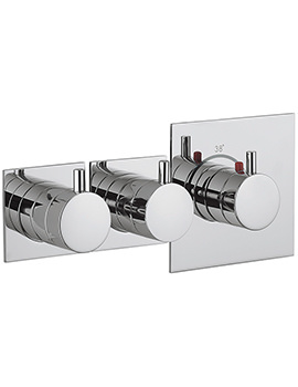 Crosswater Kai Lever Recessed Thermostatic 2 Control Landscape Shower Valve