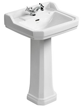 Waverly 560mm 1 Taphole Basin And Pedestal