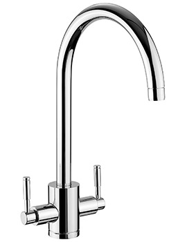 Aquatrend 1 Monobloc Dual Lever Kitchen Sink Mixer Tap