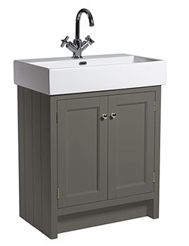 Hampton 700mm Pewter Vanity Unit With Basin - HAM700B.PW