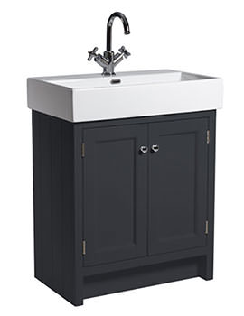 Hampton 700mm Slate Grey Vanity Unit With Basin