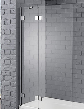 Venturi 8 1000 x 1500mm Hinged Bath Screen
