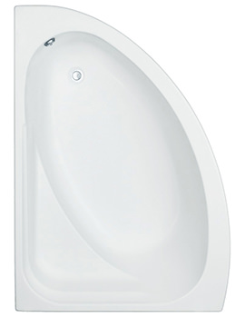 Orlando White Left Handed 1500x1020mm Offset Corner Bath With Panel