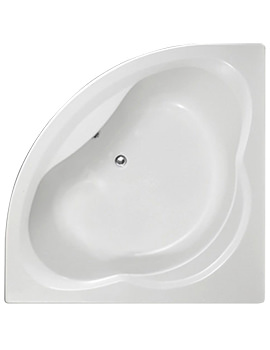 Trojan Laguna 1350 x 1350mm Corner Bath Tub With Panel - NTH - Image
