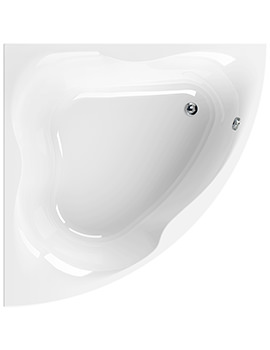 Gloria White 1500 x 1500mm Corner Bath - 154GLORIA15