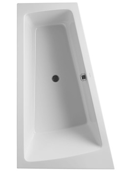 Duravit Paiova 1700 x 1000mm Left Slope Bath With Frame For Panel - 700218