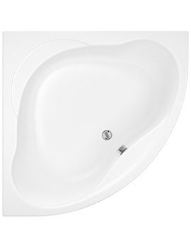Trojan Laguna 1200 x 1200mm White Corner Bath With Panel - Image