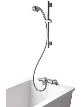 Midas 100 Thermostatic Bath Shower Mixer Tap With Slide Rail Kit