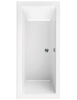 Plane 1900 x 900mm Double Ended Bath - 154PLANE1990