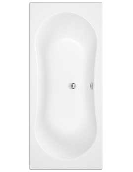 Gemini White Double Ended Bath 1800 x 800mm - NTH