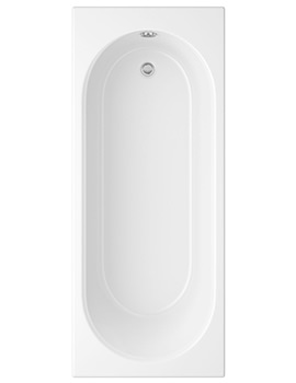 Cascade White Single Ended Bath 1700 x 700mm - 2 Taphole
