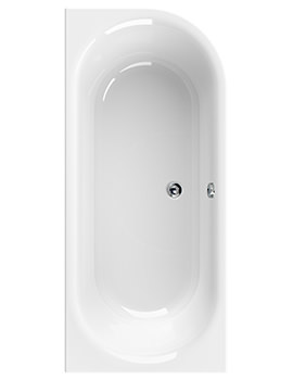 Metauro 2 Right Hand 1800 x 800mm Bath - 154METAURO2RH1880