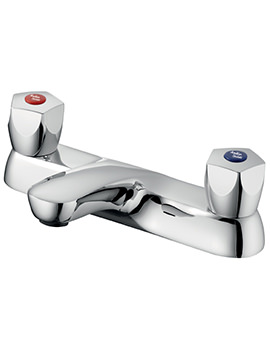 Sandringham 21 2 Hole Bath Filler Tap With 5 Facet Handles
