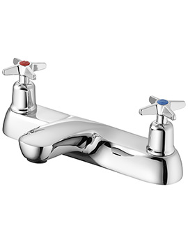 Sandringham 21 2 Hole Bath Filler Tap With Crosshead Handles