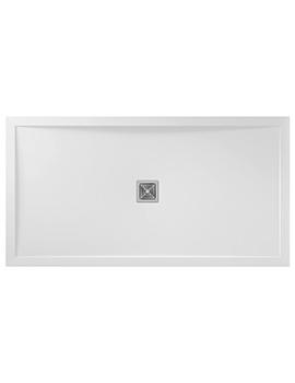 Aquadart Aqualavo 1100 x 800mm Rectangular White Gloss Shower Tray