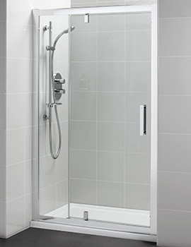 Synergy 1200mm Pivot Shower Door With In-Line Panel