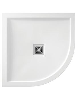 Aquadart Aqualavo 900 x 900mm Quadrant White Gloss Shower Tray