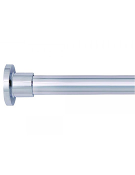 Croydex Large L Shaped To Wall Rod Curtain Rail And Ceiling Support - Image