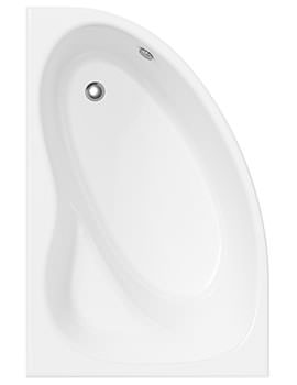 Melody Off Set Corner Shower Bath And Panel Left Hand 1450 x 950mm