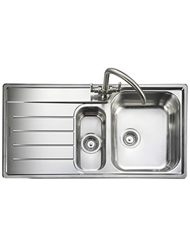 Rangemaster Oakland 985 x 508mm Stainless Steel 1.5B Inset Kitchen Sink